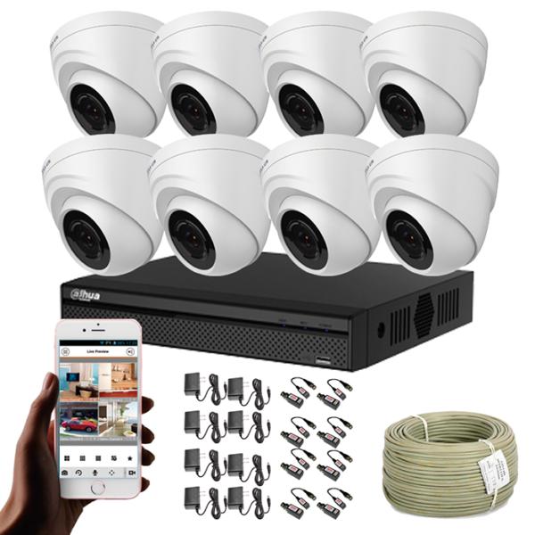 KIT CCTV DAHUA DVR PENTAHIBRIDO KIT-8