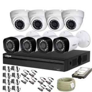 KIT CCTV DAHUA DVR PENTAHIBRIDO KIT-9