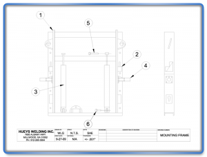 Broom Model 26-46 Mounting Frame Schematic