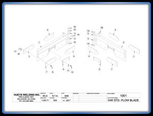 Plow Model 26-46 Standard Blade Schematic