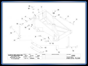 Plow Model 26-46 Standard Schematic