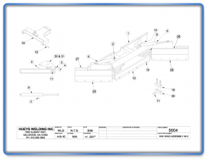 Wing Model 46 Non-Articulating Schematic