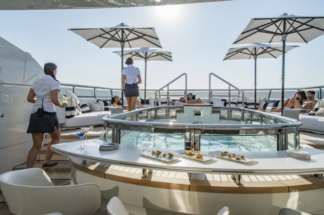 Fantastic service at all times while relaxing around the onboard Jacuzzi or a pool