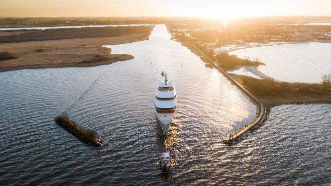 Feadship superyacht Moonrise-on-sea-trials. Photo credit Tom Van Oossanen