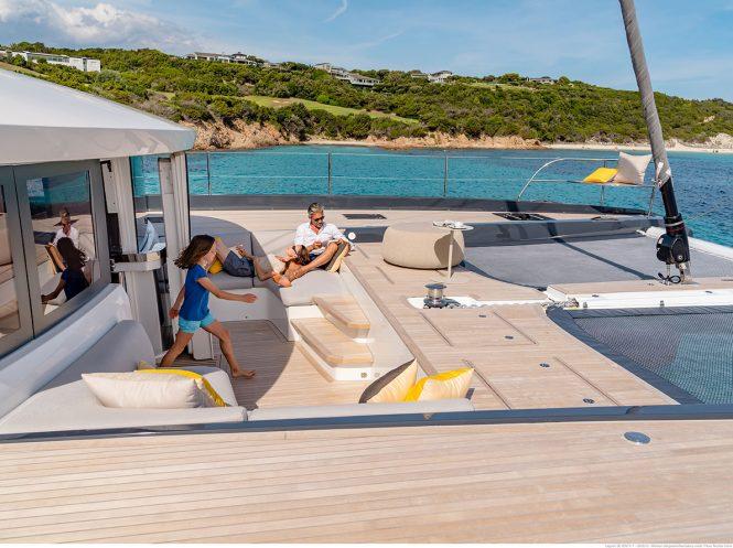 Large exterior deck spaces to enjoy