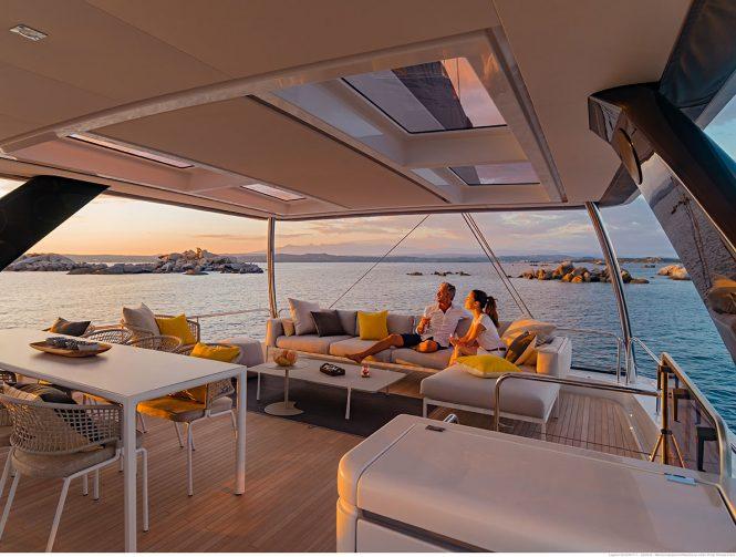 enjoying the Croatian vacation aboard sailing catamaran