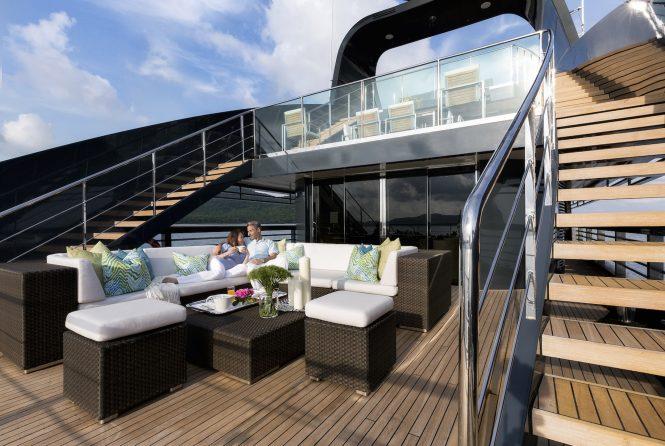 Comfortable luxury deck spaces