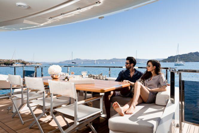 On deck Dominator yacht Kalliente © Photo Jeff Brown