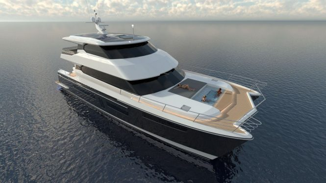 Rendering of superyacht RUA MOANA - Photo to be released following delivery