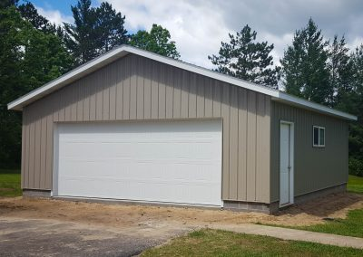Upgrades Shown Agricultural Steel Siding 1 Row of Block Aluminum Soffit and Fascia