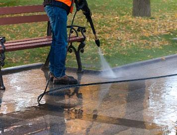 Sidewalk cleaning and sanitation
