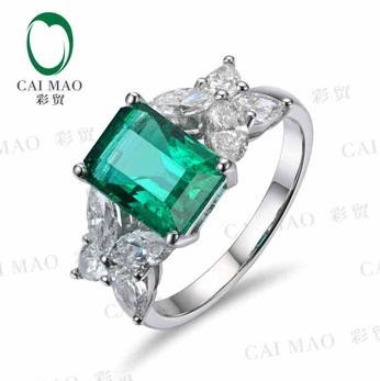 CaiMao-1-79-ct-Natural-Emerald-18KT-750-White-Gold-1-03-ct-Full-Cut-Diamond.jpg_350x350