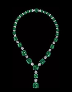 David Morris necklace diamond emerald