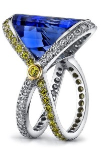 Faceted Fantasy Tanzanite Ring - Mark Schneider Design