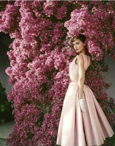 Norman Parkinson's Audrey Hepburn with Flowers, 1955.