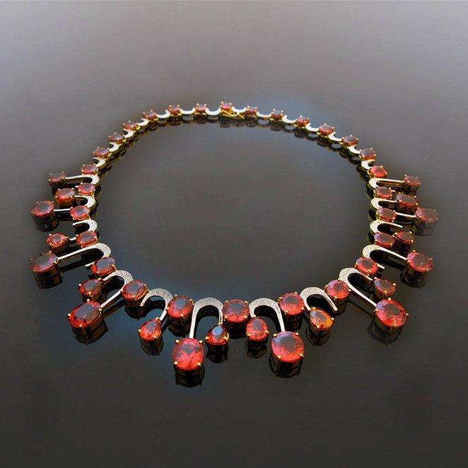 Leibish & Co 90.00Cts Loose Gemstone Mix Shape Red Diamonds