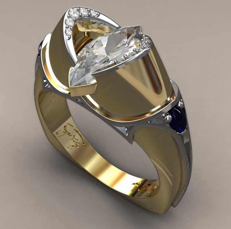 Medieval Marquis Engagement Ring