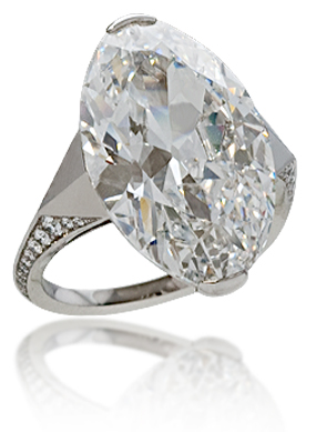 Navette-Cut Diamond Ring from the Stephen Russell Collection.