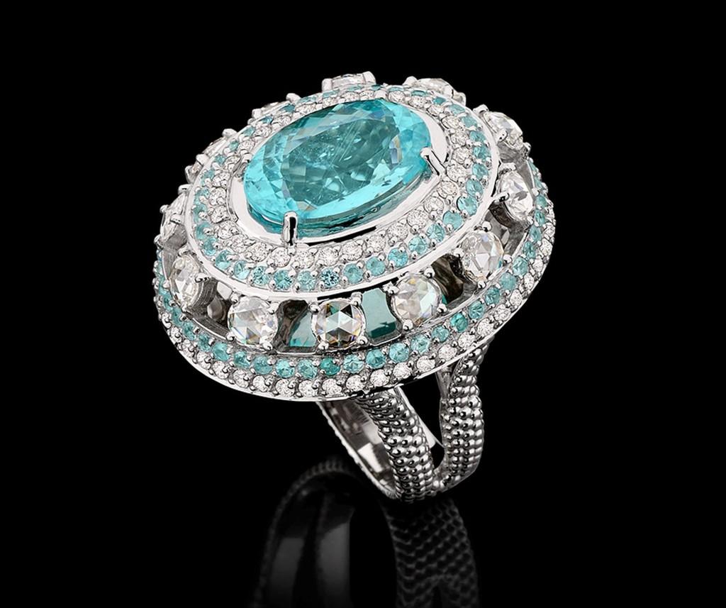 Carla Amorim Paraiba Ring with diamonds