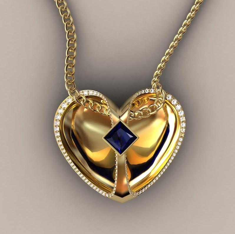Floating Heart Pendant