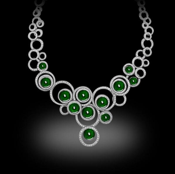 Jade and Diamond Necklace