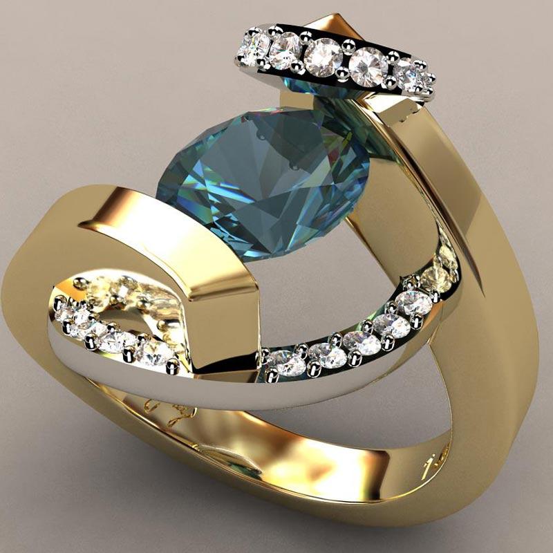 Swirl Wrap Suspension Set Ladies Ring
