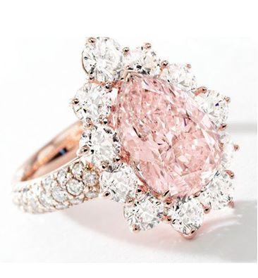 Fancy Light Pink Diamond and Diamond Ring