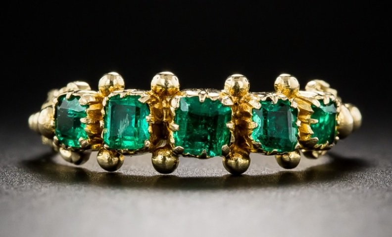 Antique Emerald Five Stone Ring