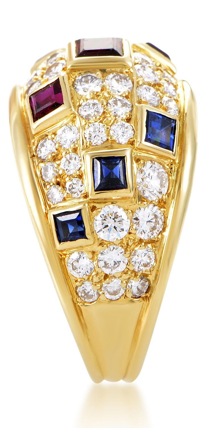 Piaget Women's 18K Yellow Gold Precious Gemstone Band Ring