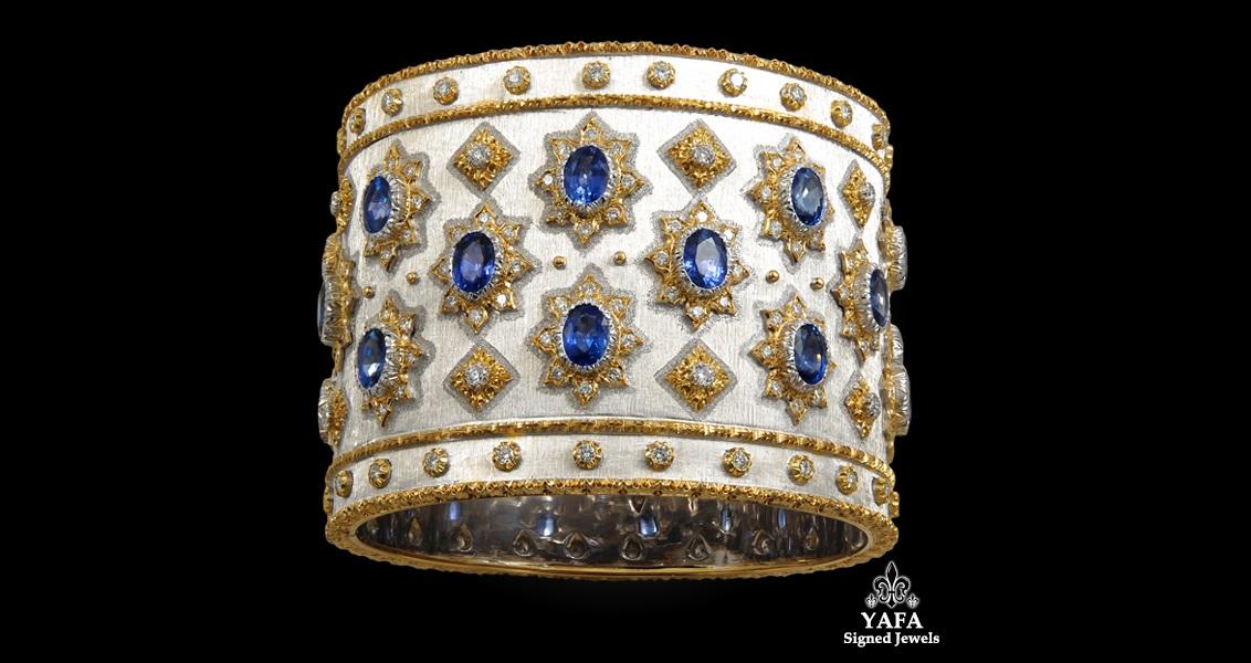 M.BUCCELLATI Diamond and Sapphire Bangle