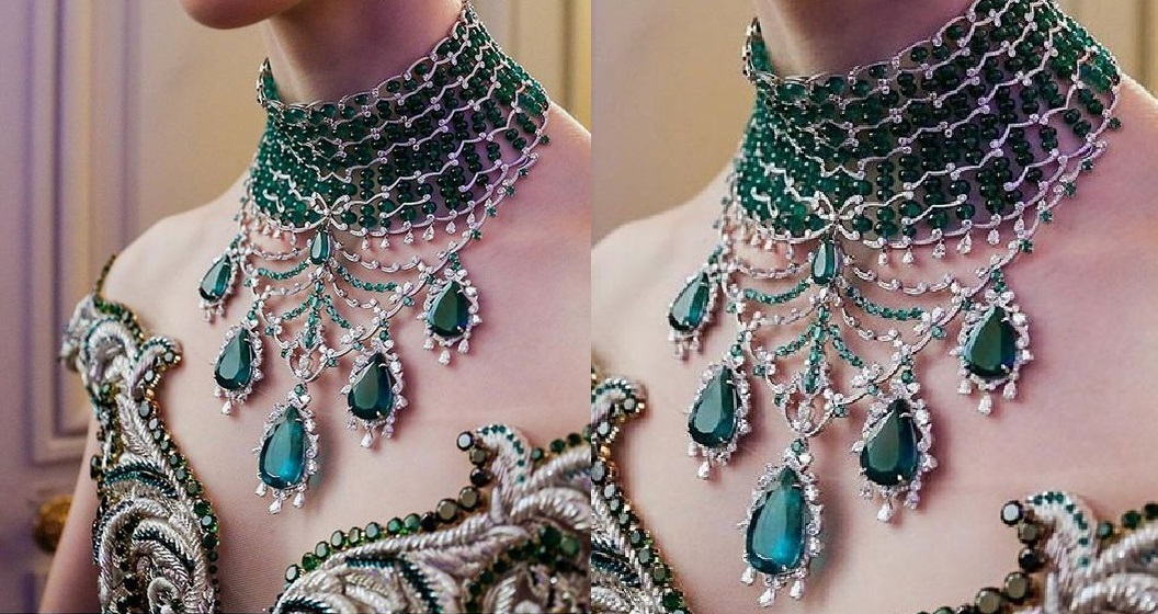 Chopard Emerald and Diamond Necklace