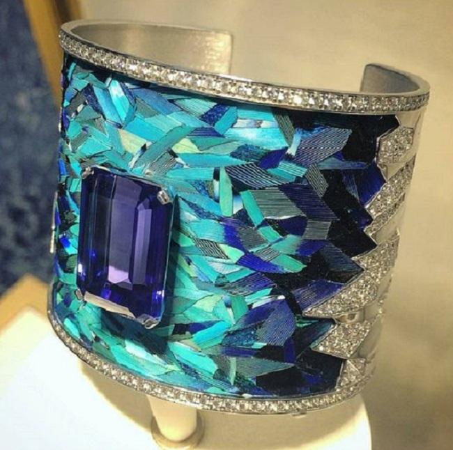 Tanzanite Cuff Bracelet