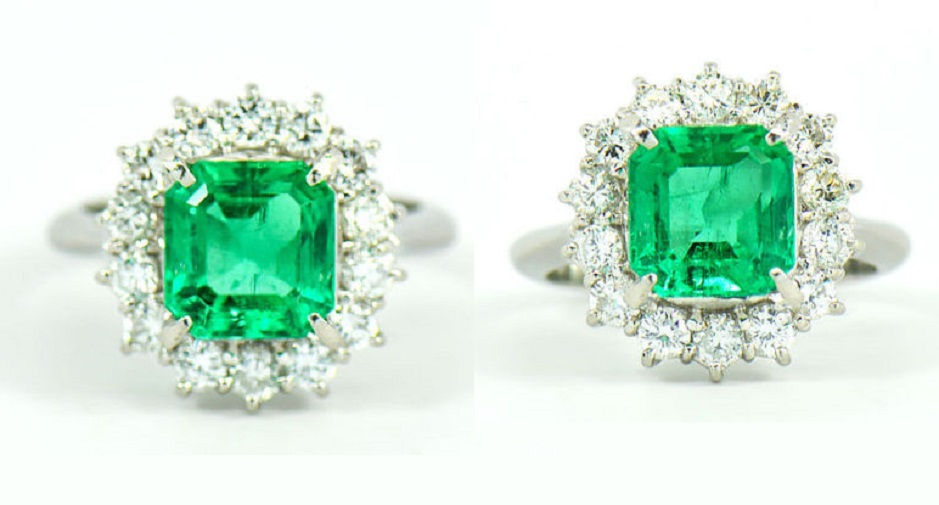 Magnificent 2.64 ct. Fine Colombian Emerald & Diamond Platinum Ring