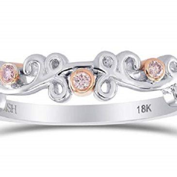 Diamond Band Ring Set in 18K White Rose Gold