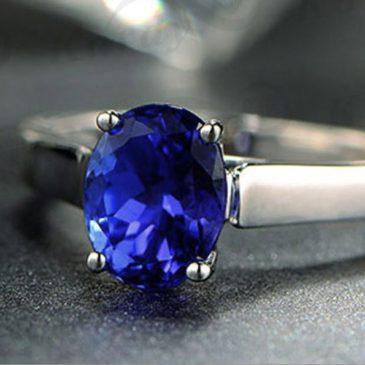 1.37 Ct Blue Tanzanite White Gold 14K Ring