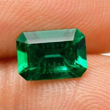 1.32 Cts Green Emerald Loose Gemstone Emerald Cut Gubelin Certified