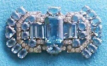 The Queen Mother's Aquamarine Art Deco Brooch