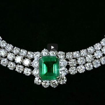 Colombian Emerald Necklace and Earrings from M.S. Rau Antiques