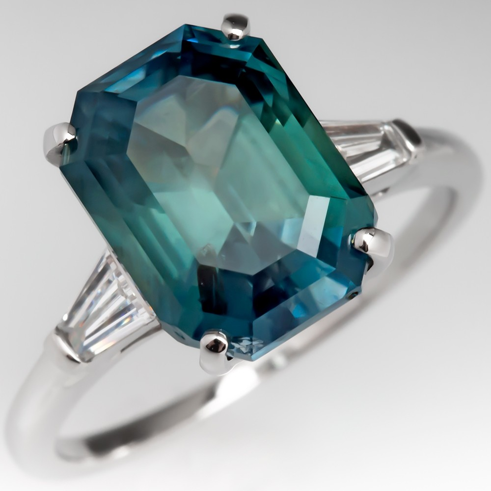 5.9CT No Heat Color Change Montana Sapphire Ring Blue to Green