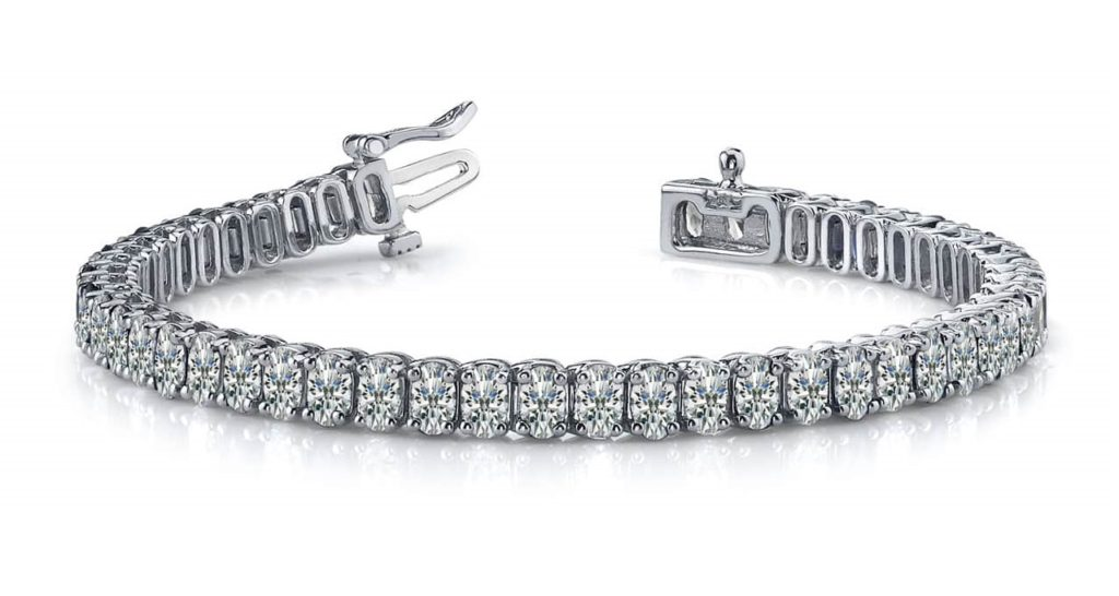 Elegant Oval Diamond Tennis Bracelet In 14K 18K Or Platinum
