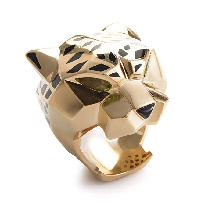 Cartier Panthere 18K Yellow Gold Gemstone Ring
