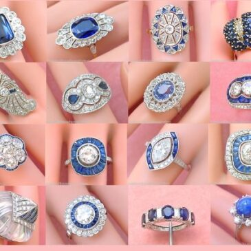 Gorgeous Vintage Sapphire and Diamond Rings