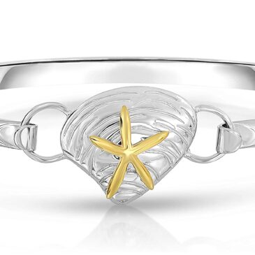 Beautiful Ocean Side Designer 925 Sterling Silver Nautical Interchangeable Bangle