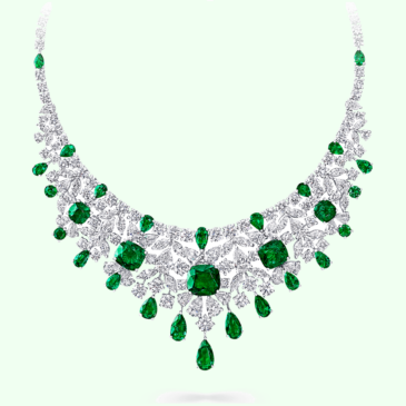 Graff Emerald and diamond necklace (Emeralds 46.45 carats, Diamonds 63.60 carats)