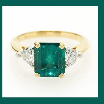 A Captivating Emerald and Diamond Ring
