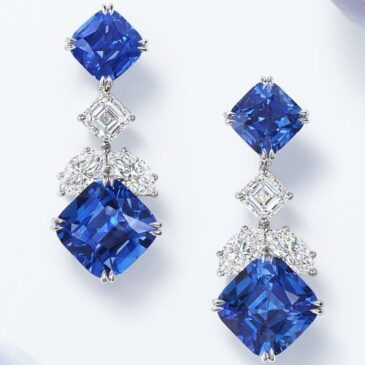 Harry Winston Sapphire and Diamond Drop Earrings