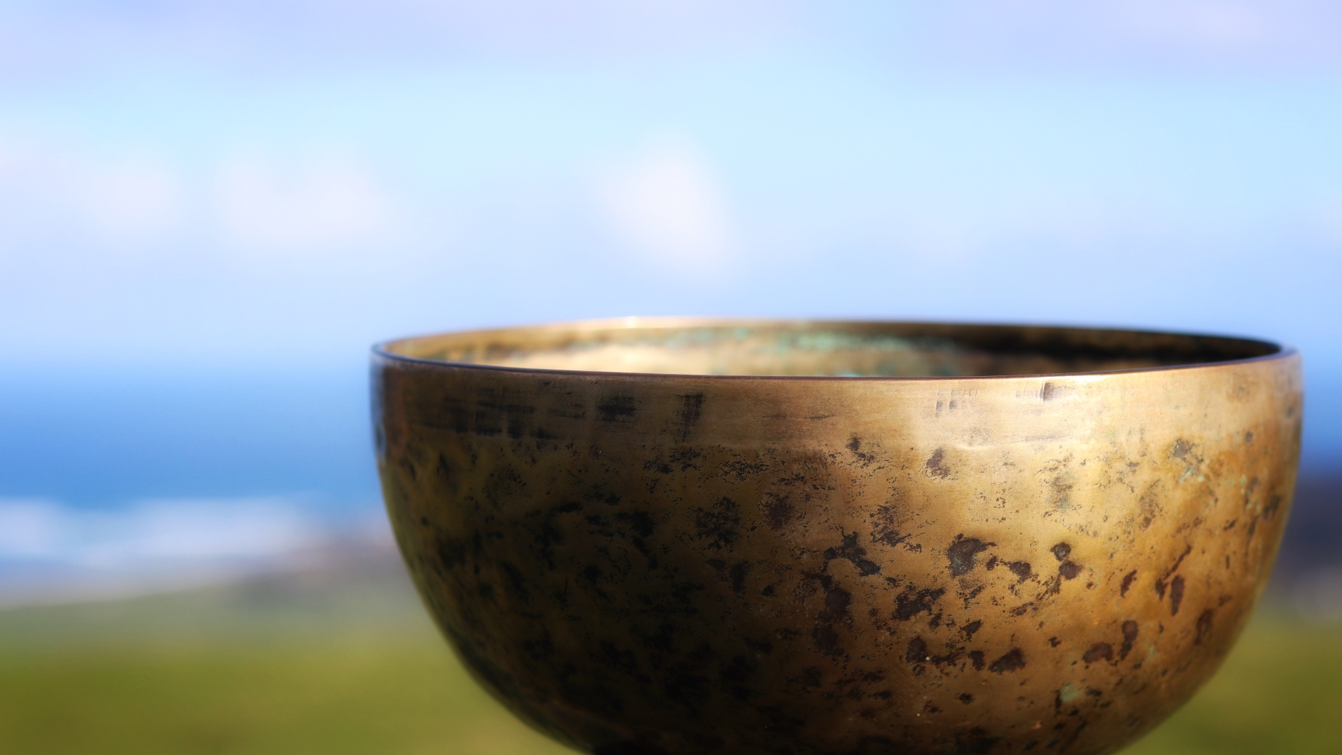 Tibetan Singing Bowl in the Garden