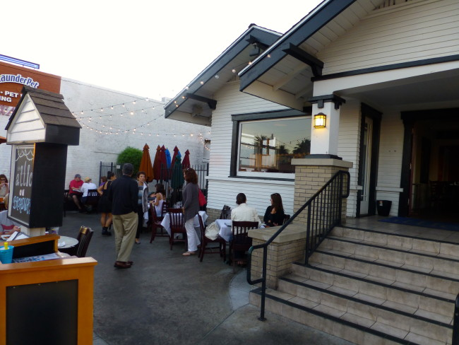 The Attic Restaurant Stairway Entrance
