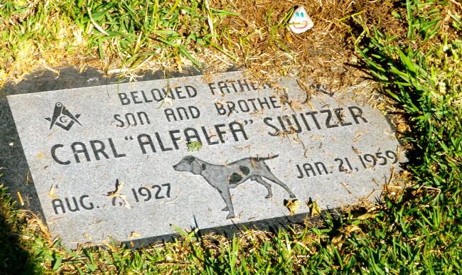 Carl Alfalfa Switzer Grave