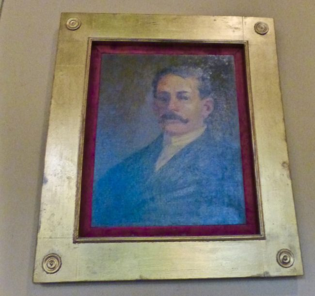 Portrait of Colonel Green inside Castle Green Pasadena
